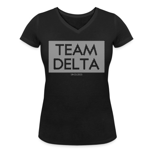 Grey and Black Girl - T-shirt bio col V Stanley & Stella Femme