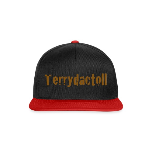 Red and Black Terrydactoll Banner  Snapback Cap  - Snapback Cap