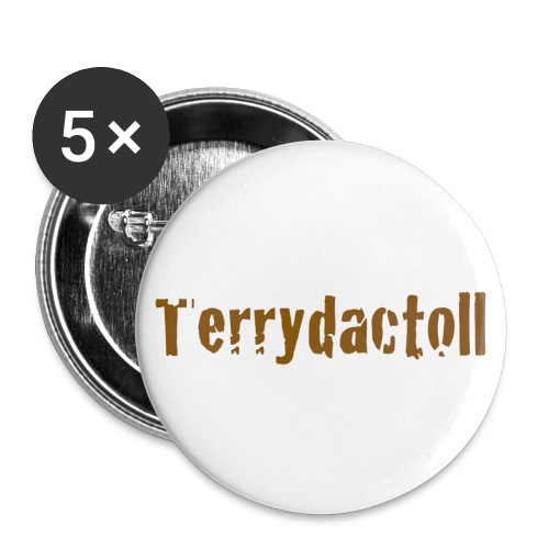 5 x 25mm Terrydactoll Badges - Buttons small 25 mm