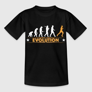 Running Evolution - orange/weiss Shirts - Teenager T-shirt