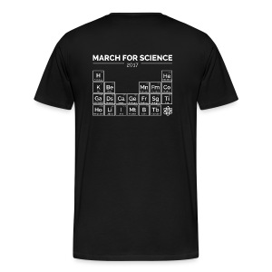 Periodensystem March for Science weiß - Männer Premium Shirt - Männer Premium T-Shirt