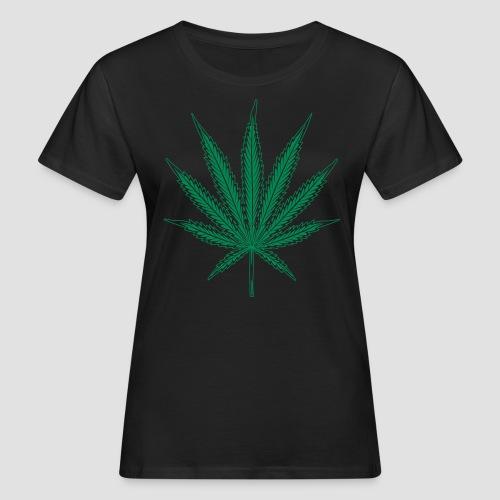 Hanf blatt mit vielen details - Frauen Bio-T-Shirt
