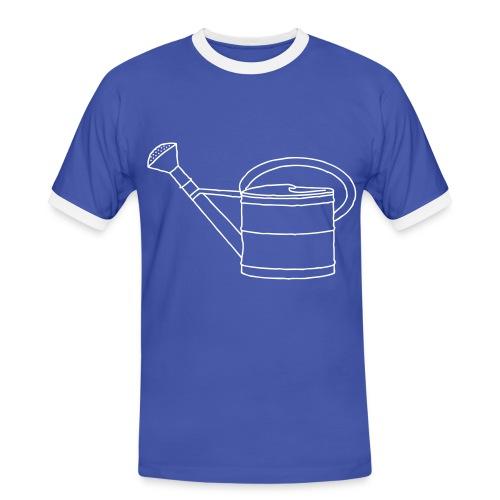Gießkanne Garten - Männer Kontrast-T-Shirt