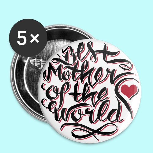 Best mother of the world - Buttons klein 25 mm
