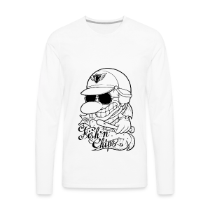 T-shirt manches longues Premium Homme - Hommage au téléfilm Chips