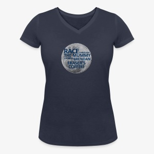 Race Through The Mummy Women's Tee - Women's Organic V-Neck T-Shirt by Stanley & Stella