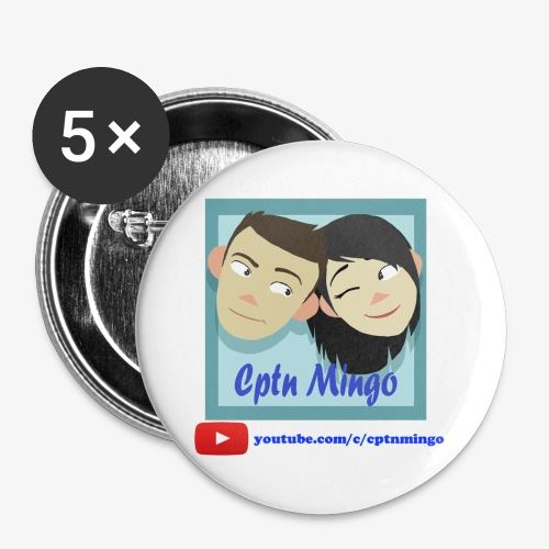 Cptn Mingo Badges (5 pack) - Buttons large 56 mm