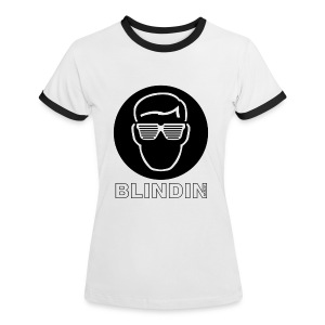 BLINDIN Women's Contrast T-Shirt - Women's Ringer T-Shirt