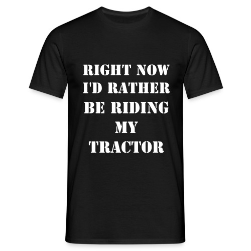 Riding my Tractor Shirt - Mannen T-shirt