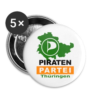 Piraten-Buttons - Buttons groß 56 mm