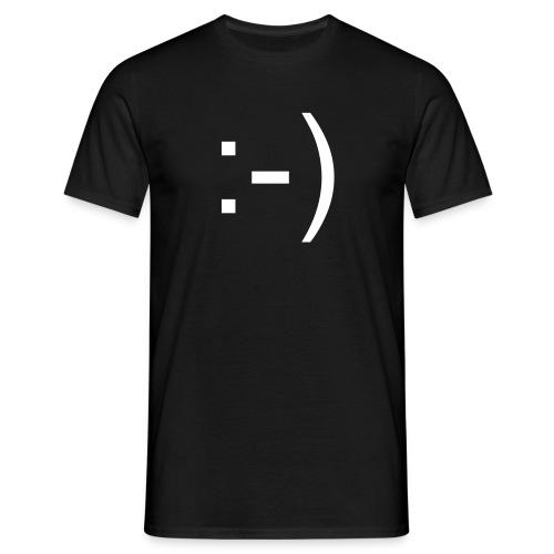 :-) - schwarz - Männer T-Shirt