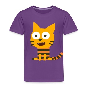 'Cat Carlo' Fiete Kids Shirt - plum - Kinder Premium T-Shirt