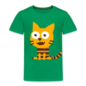 'Cat Carlo' Fiete Kids Shirt - green - Kinder Premium T-Shirt