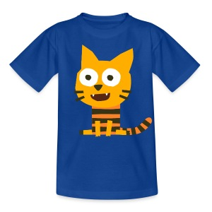 'Cat Carlo' Fiete Kids Shirt - blue - Kinder T-Shirt