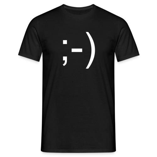 ;-) - schwarz - Männer T-Shirt