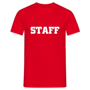 Mens ' Staff ' Tee v2 Red / White Flex Print - Men's T-Shirt
