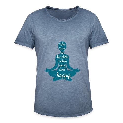 Yoga Shirt Your Soul - Männer Vintage T-Shirt