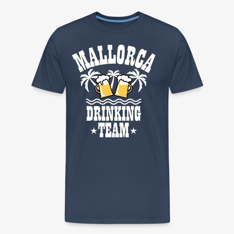 09 Mallorca Drinking Team Beer Mass Bier Party T-Shirt - Männer Premium T-Shirt