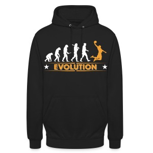 Basketball Evolution - orange/weiss Bluzy - Bluza z kapturem typu unisex