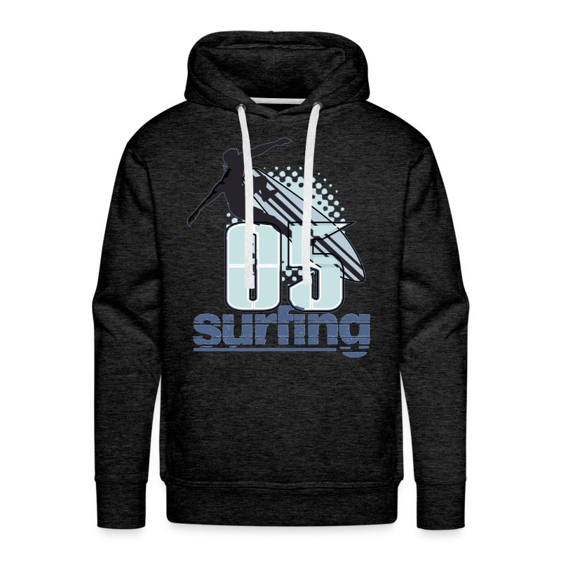 surfing - Sudadera con capucha premium para hombre