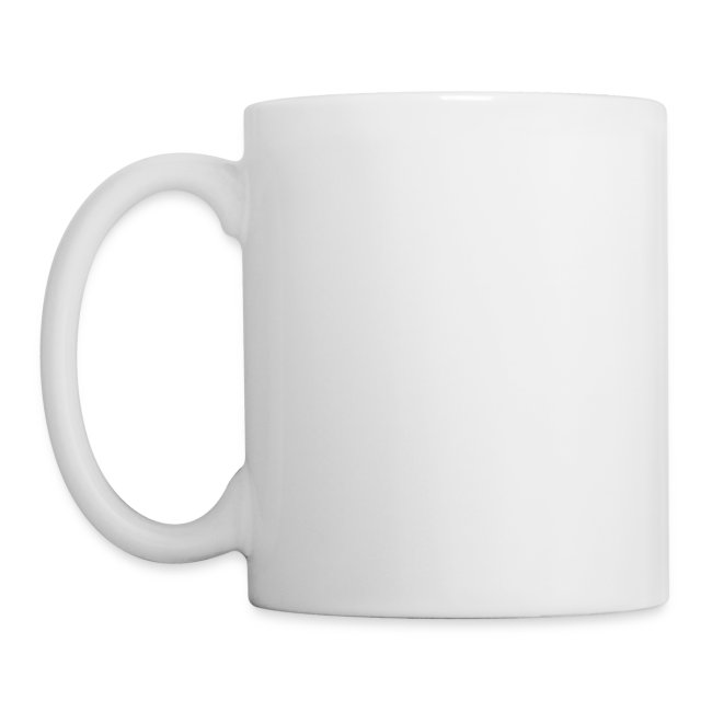 Brooch logo mug white