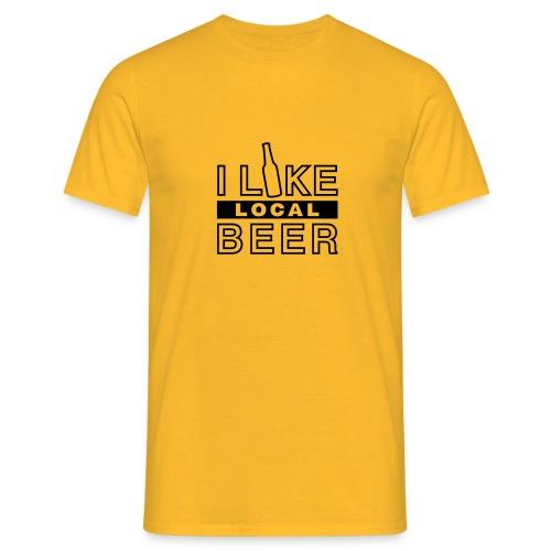I Like Local Beer – Gelb-Schwarz - Männer T-Shirt