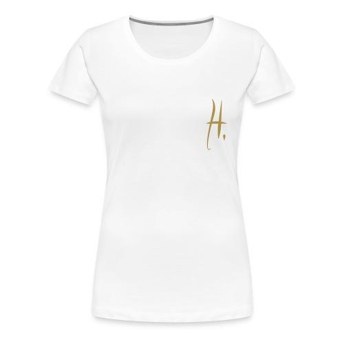 Logo Or Paillette - T-shirt Premium Femme