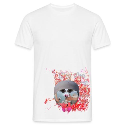 I like the flowers, t-shirt. - Herre-T-shirt