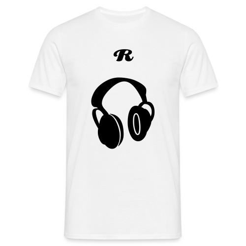 'R' DJ Standard T-Shirt (WHITE) - Men's T-Shirt
