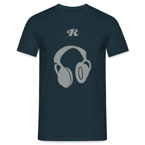 R' DJ Standard T-Shirt (NAVY) - Men's T-Shirt