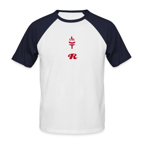 'R' Red Torch Tee Two Tone (WHITE/RED) - Men's Baseball T-Shirt