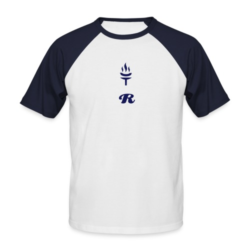 R' Navy Torch Tee Two Tone (GREY/BLUE) - Men's Baseball T-Shirt