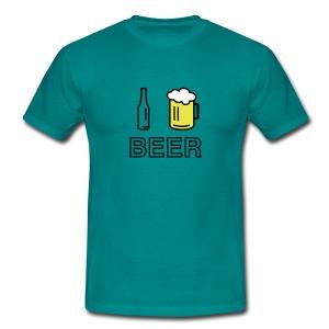 I Love Beer (green) - Männer T-Shirt