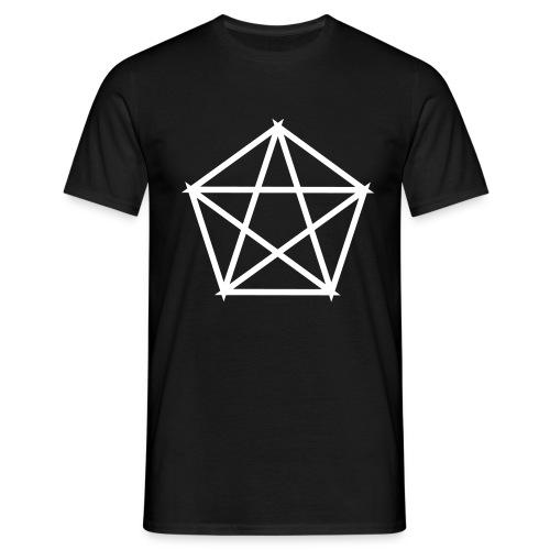 Männer Shirt – Pentagramm weiß - Männer T-Shirt