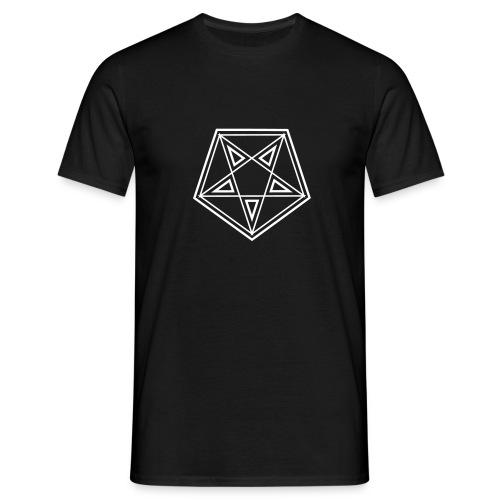 Männer Shirt – Drudenfuß weiß - Männer T-Shirt