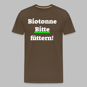 Biotonne - Bitte füttern! - Männer Premium T-Shirt