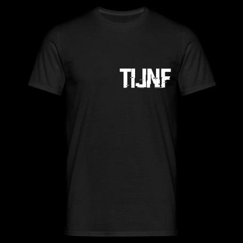 Mannen T-Shirt met TIJNF logo (zwart) - Mannen T-shirt