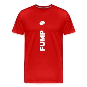 FUMP –Weiss auf Rot - Männer Premium T-Shirt
