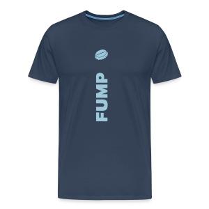 FUMP – Himmelblau auf Blau - Männer Premium T-Shirt
