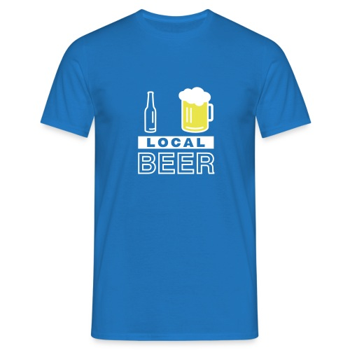 I Love Local Beer (blue) - Männer T-Shirt