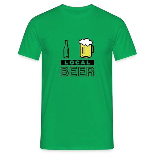 I Love Local Beer (green) - Männer T-Shirt