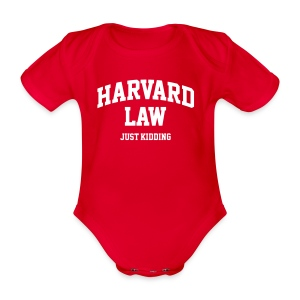 Harvard law (just kidding) - Baby bio-rompertje met korte mouwen