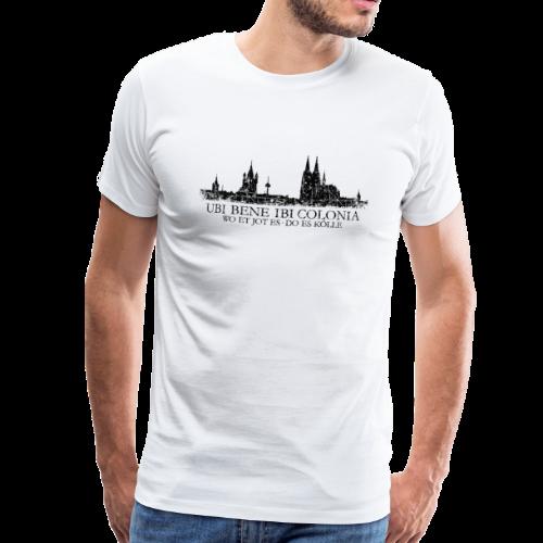 UBI BENE DO ES KÖLLE Skyline (Vintage Schwarz) Köln Römisch - Männer Premium T-Shirt