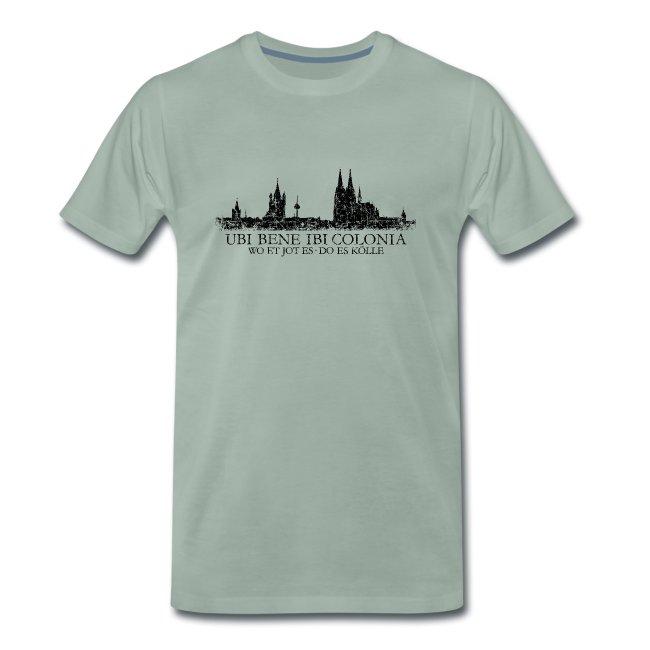 UBI BENE DO ES KÖLLE Skyline (Vintage Schwarz) Köln Römisch