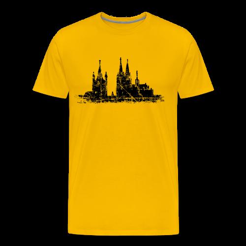 Kölner Dom St.Martin (Vintage Schwarz) S-5XL Köln T-Shirt - Männer Premium T-Shirt