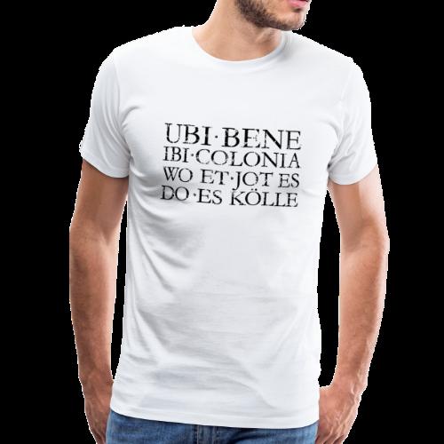 UBI BENE DO ES KÖLLE (Vintage Schwarz) S-5XL Köln T-Shirt - Männer Premium T-Shirt