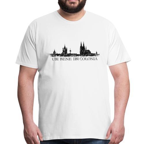UBI BENE IBI COLONIA Skyline (Vintage Schwarz) Köln Römisch - Männer Premium T-Shirt