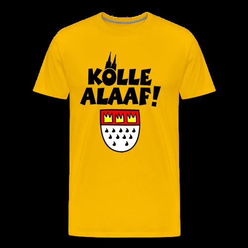 Kölle Alaaf mit Wappen und Dom S-5XL T-Shirt - Männer Premium T-Shirt