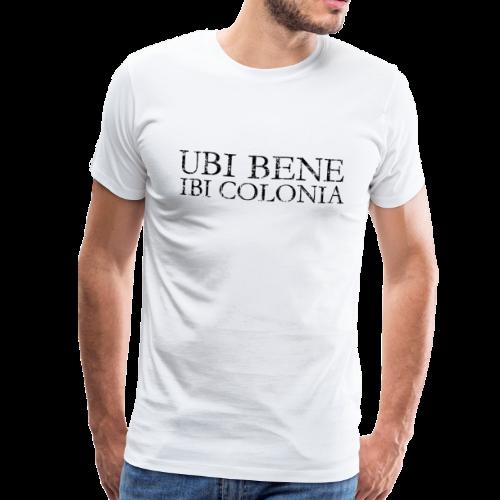 UBI BENE IBI COLONIA (Vintage Schwarz) Köln Spruch Römisch - Männer Premium T-Shirt