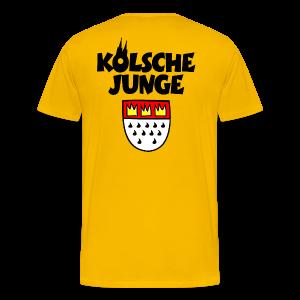 Kölsche Junge mit Kölner Wappen S-5XL Köln T-Shirt - Männer Premium T-Shirt